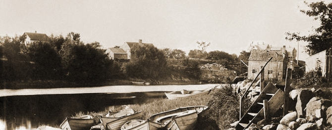 Photo circa 1900 of Turkey Shore from Water Street by Arthur Wesley Dow.