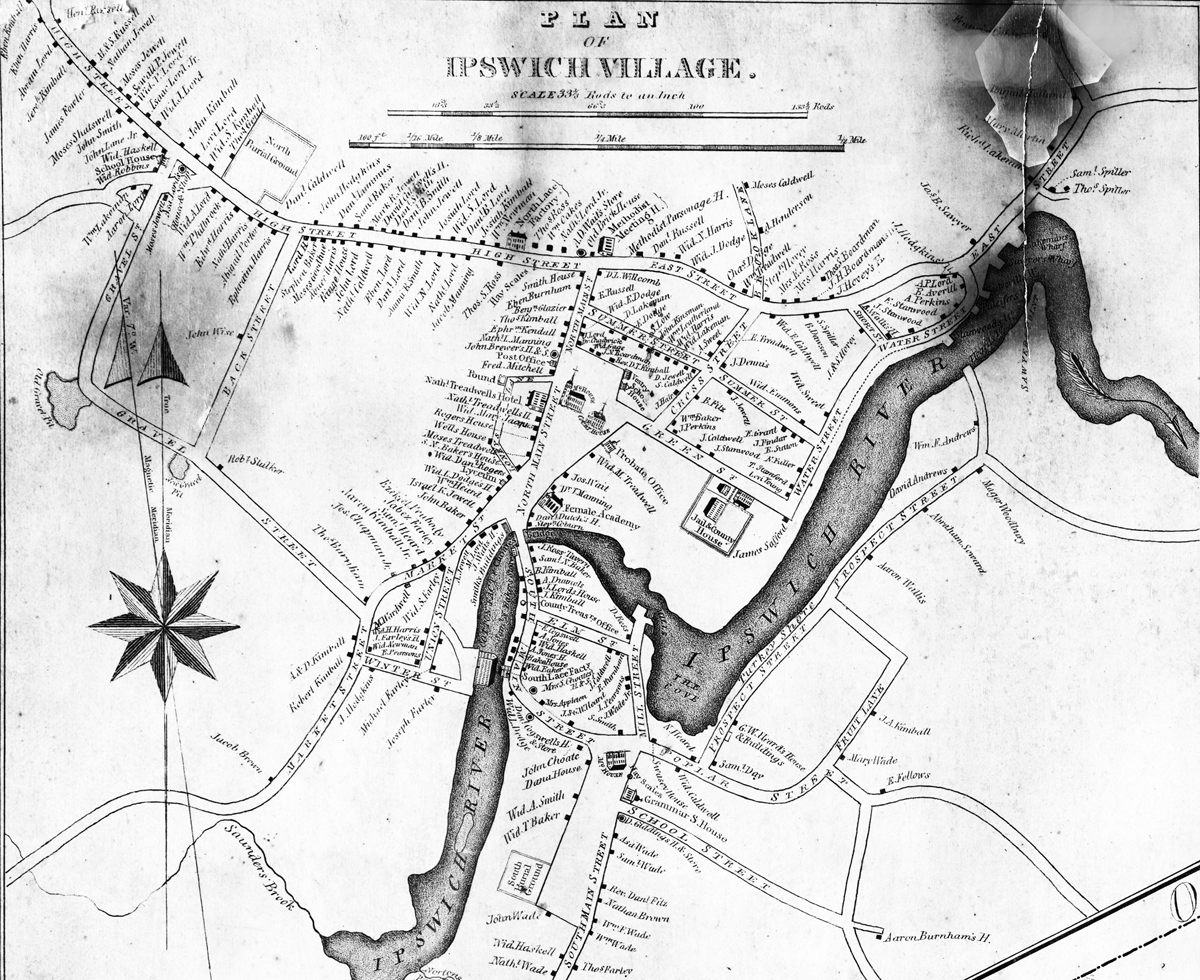 Historic And Interactive Maps Of Ipswich 2nd Judicial Circuit Historical Society 1832 Philander Map Village