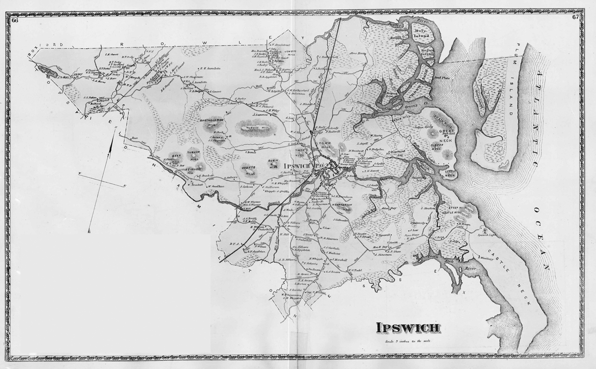Historic Maps Of Ipswich Historic Ipswich - Maps massachusetts