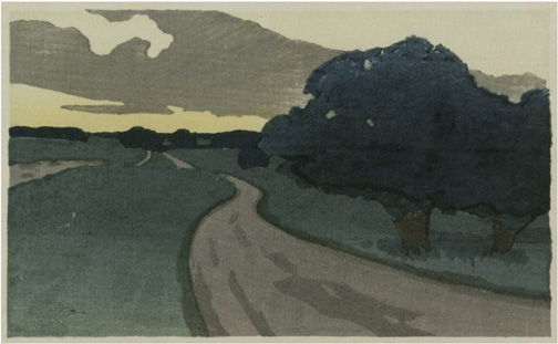 Argilla Road drawing by Arthur Wesley Dow