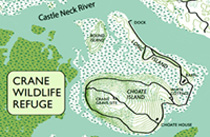 Choate Island trail map