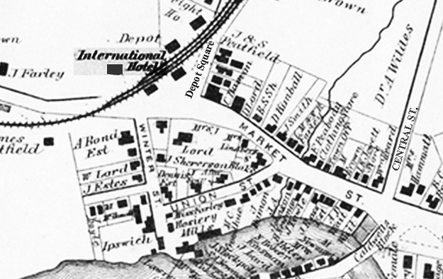 old map of Ipswich MA