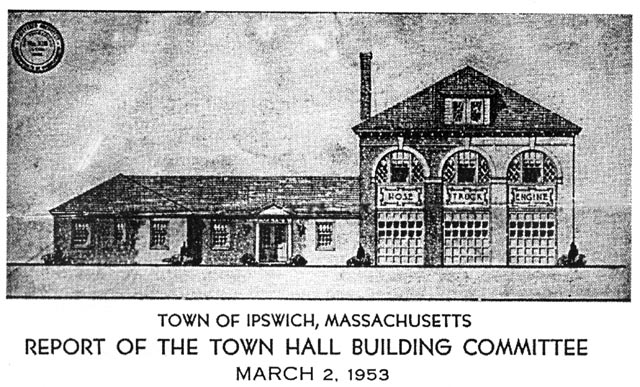 1953 plan to extend Ipswich fire station
