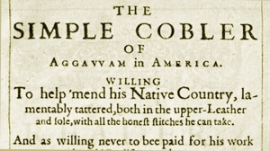 The Simple Cobbler of Aggawam in America by Nathaniel Ward