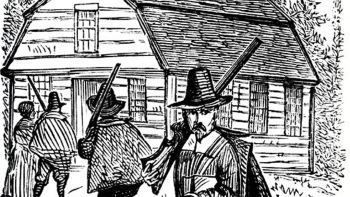 """The Puritans """"warned out"""" strangers who arrived in town."""