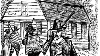 """Puritans warned out strangers and announced that the """"town is full"""""""