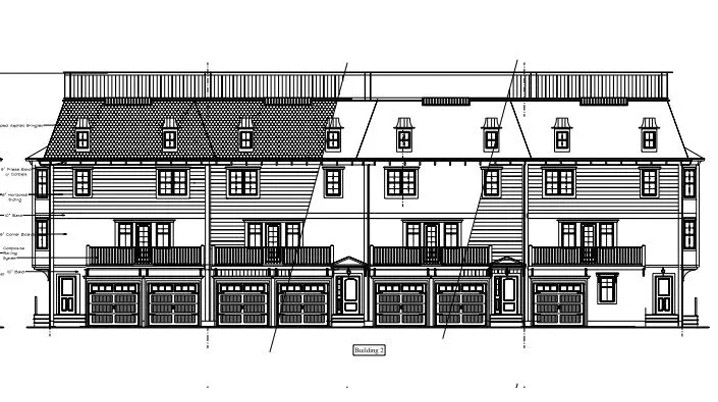 Proposed building #2 of six units proposed for the car wash lot on Washington St. near Mineral St.