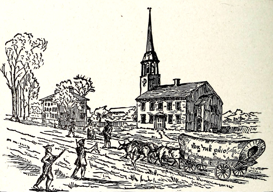 Wagon leaving from Cutler's church to Marietta