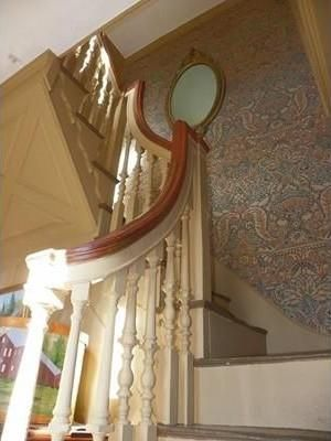 Stairway in the Dummer house