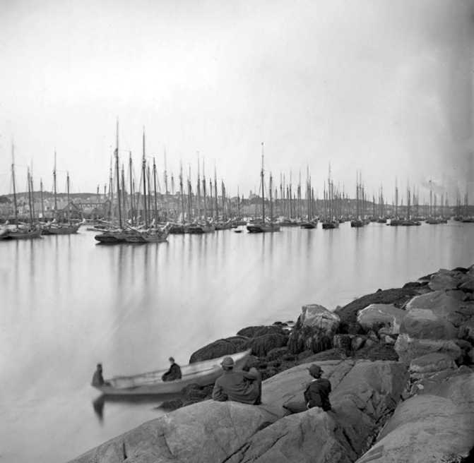 Photo of Gloucester harbor, 1870, by Fitz Henry Lane
