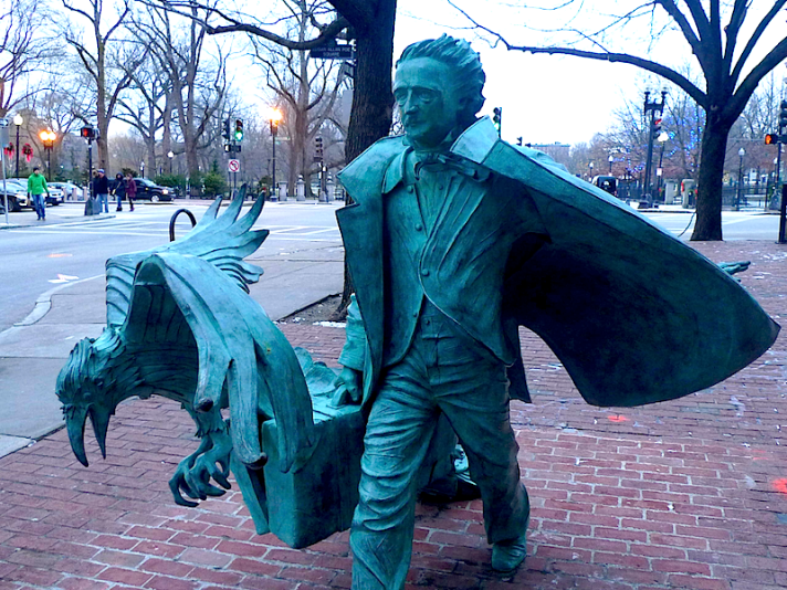 Edgar Allen Poe statue Boston