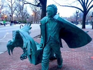Statue of Edgar Allen Poe in Boston