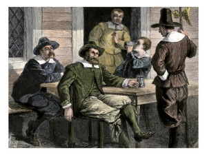 Puritans drinking
