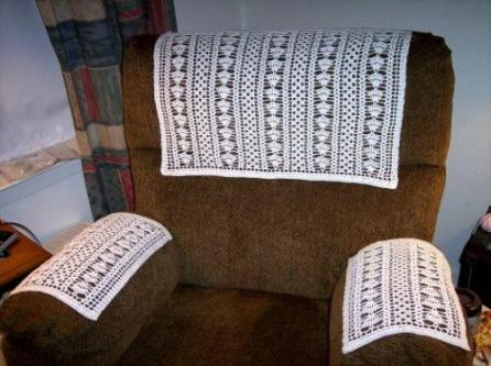 Antimacassar, a crocheted covering to protect upholstered furniture – we don't see many today. (Courtesy of wordsgoingwild.com)