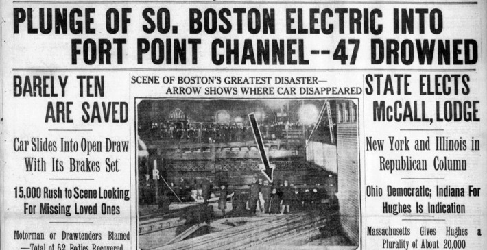 Trolley disaster Forrt Point Boston