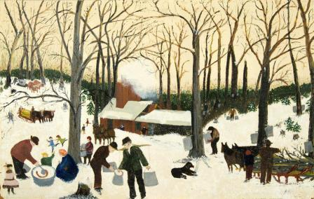 """Bringing in the Maple Syrup"" Grandma Moses"