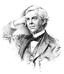 "Dr. Oliver Wendell Holmes, Sr. (1809-1894), who first referred to Boston as the ""Hub of the Universe"" (Courtesy of Wikepedia)"