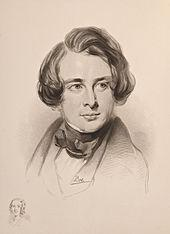 sketch of Charles Dickens