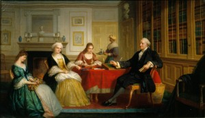 George Washington and Family by Thomas Pritchard Rossiter, 1858-1860. Gift of Nanine Hilliard Greene