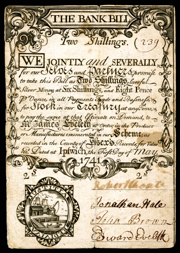 Illegal Currency: Ipswich and the Land Bank scheme of 1740-41
