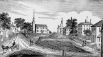 Woodsketch of Market Square and Town Hill 19th Century Ipswich