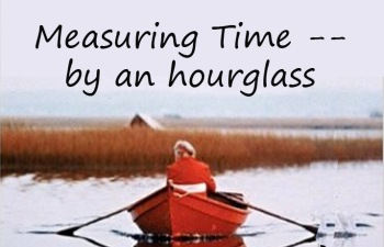 Measuring time by an hourglass by Kitty Robertson