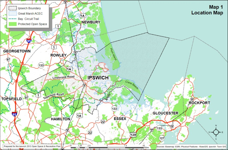 Open Spaces in Ipswich and surrounding communities