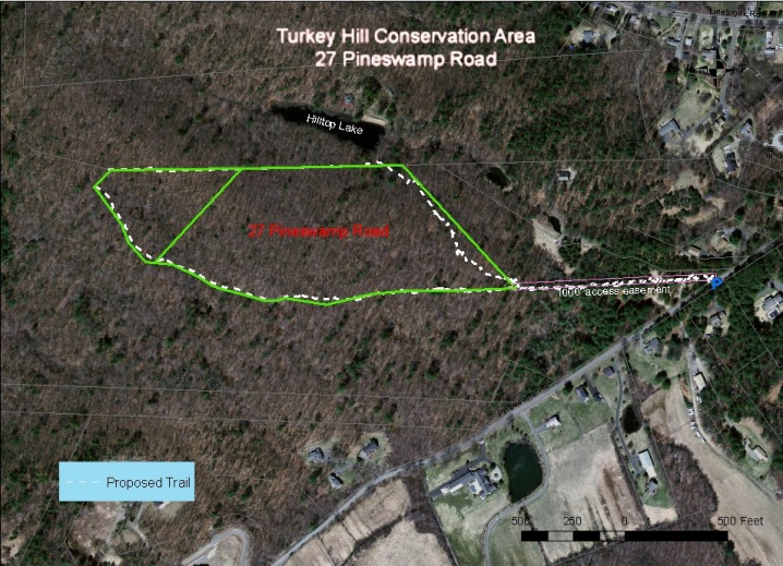 Trail map, Turkey Hill Conservation Area