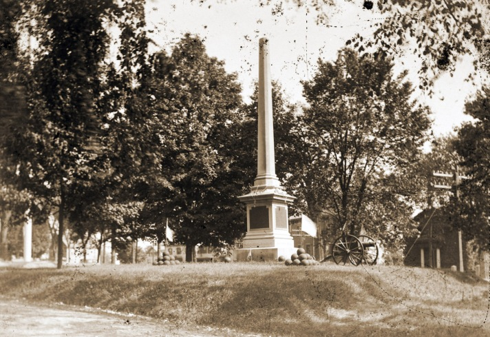 The Civil War memorial on the North Green