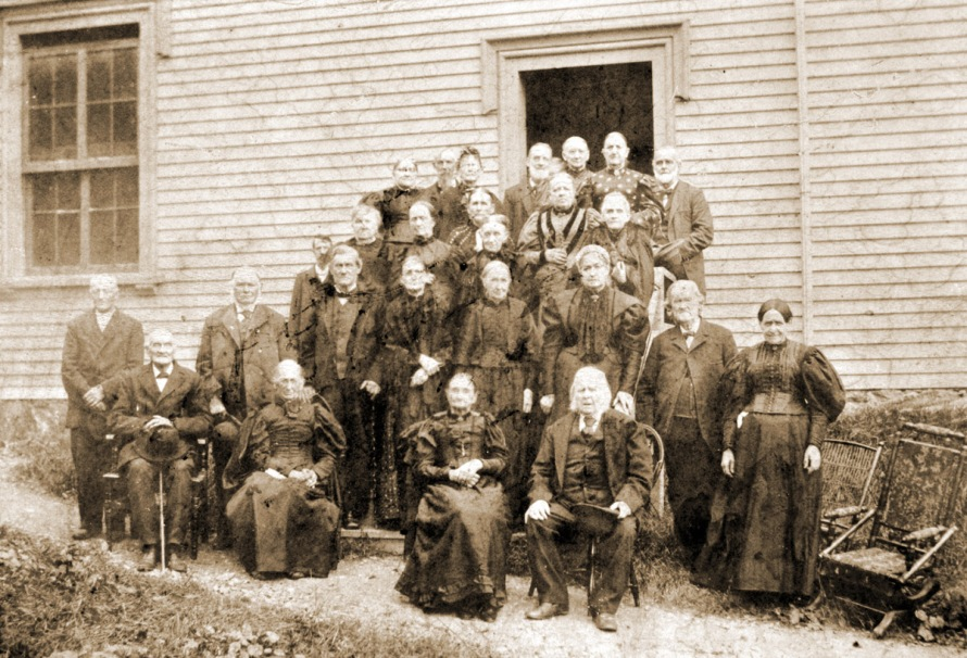A gathering of founding members of the Methodist Church in the late 19th Century, photo by Edward Darling courtesy of Bill Barton