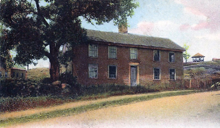 20th Century postcard of the Moll Pitcher house