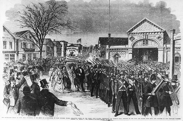 Lynn shoe workers strike 1860
