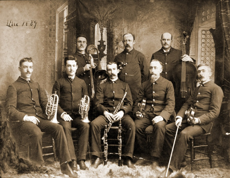 Ipswich Cornet band, Ipswich MA historic photos 1889
