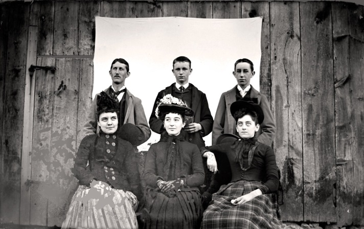 Family posing for Ipswich ma historic photos