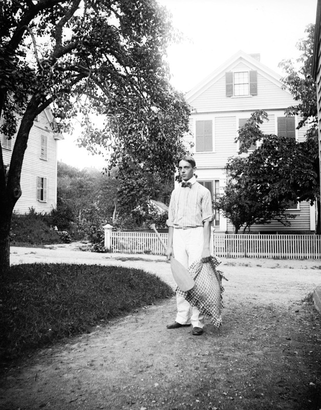 Young man on Summer Street, Ipswich MA