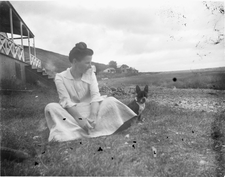 Woman at Little Neck Ipswich MA 1900