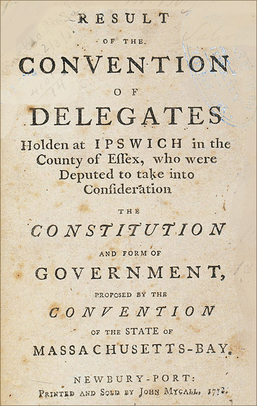 Convention of Delegates holden at Ipswich to take into consideration the Constitution