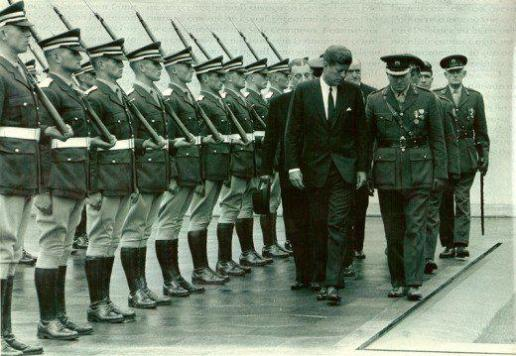 "JFK was most impressed with the ""silent drill"" performed by the Irish Cadets in Dublin. Ironically, they would perform at the President's state funeral five months later."