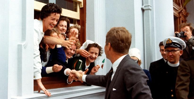 JFK was greeted enthusiastically throughout Ireland during his 1963 visit.