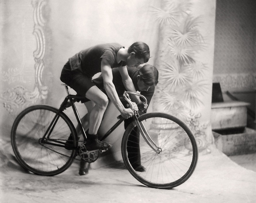 Racing bicycle early 20th Century, early photos from Ipswich Massachusetts