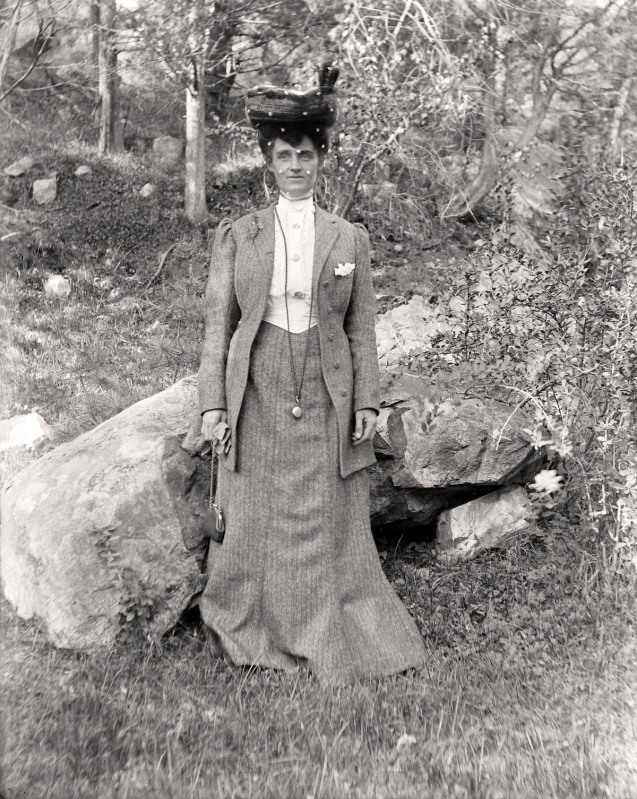 Woman in early photos from Ipswich Massachusetts