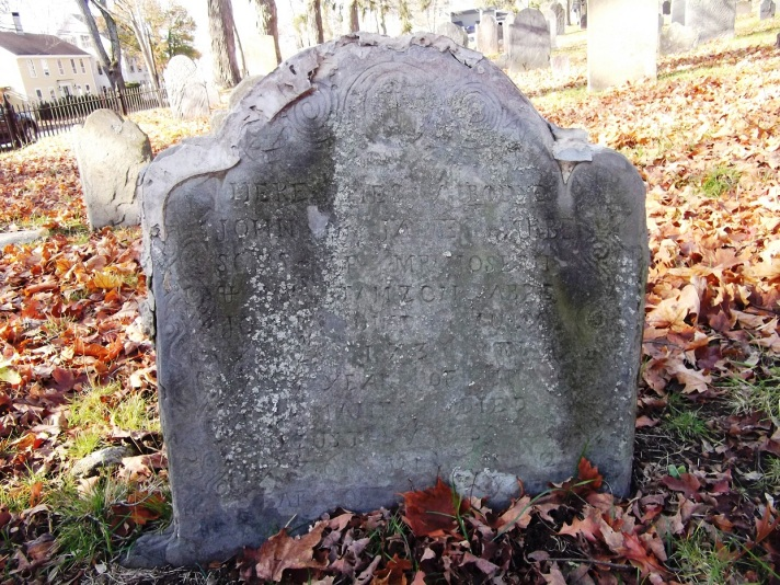 """Here lies ye bodies of John and James Abbe, sons of Mr. Joseph and Mrs. Tamzon Abbee. John died July ye 12th 1736 in ye 8th year of his age. James died August ye 30, 1736 in ye 2nd year of his age."""
