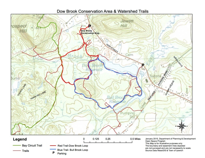 Dow Brook Conservation area map