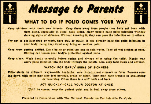 Life in the summer of polio historic ipswich for Polio transmission swimming pools