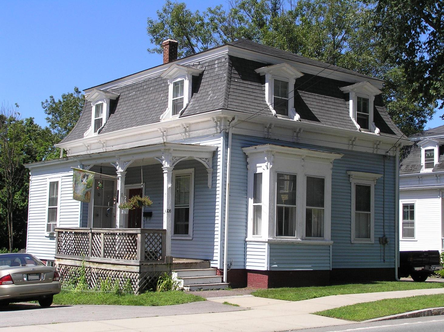 108 Central Street, the George W. Baker house (1872)