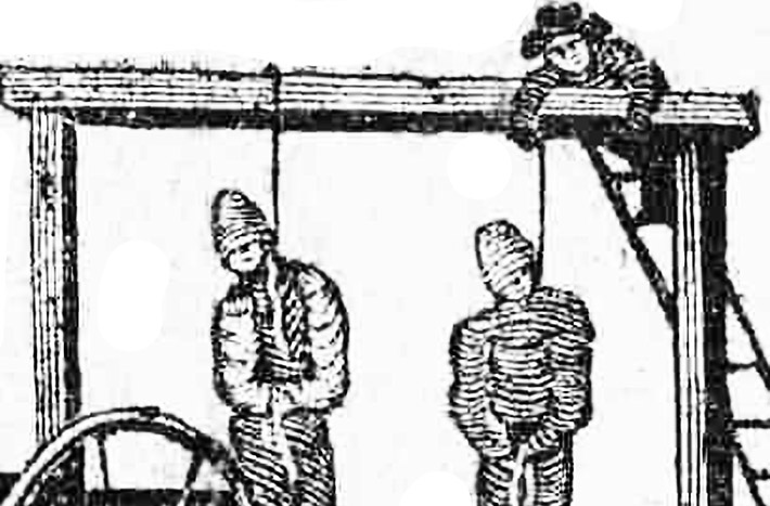 The hanging of John Williams and William Schooler, July 1637