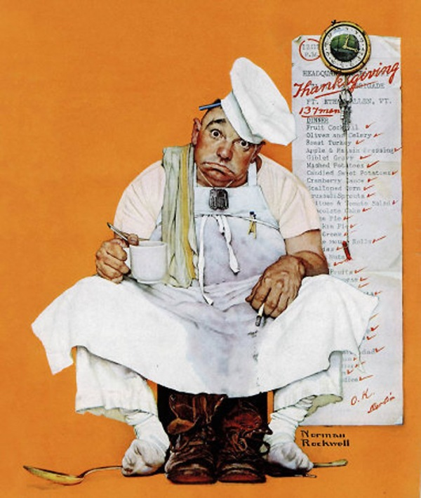 Thanksgiving Blues, Norman Rockwell