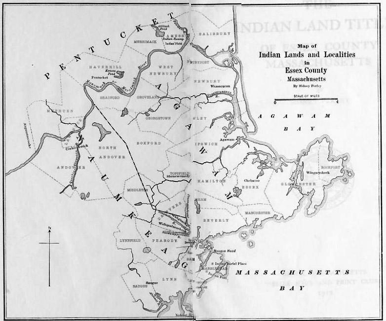Indian lands map by Sidney Perley