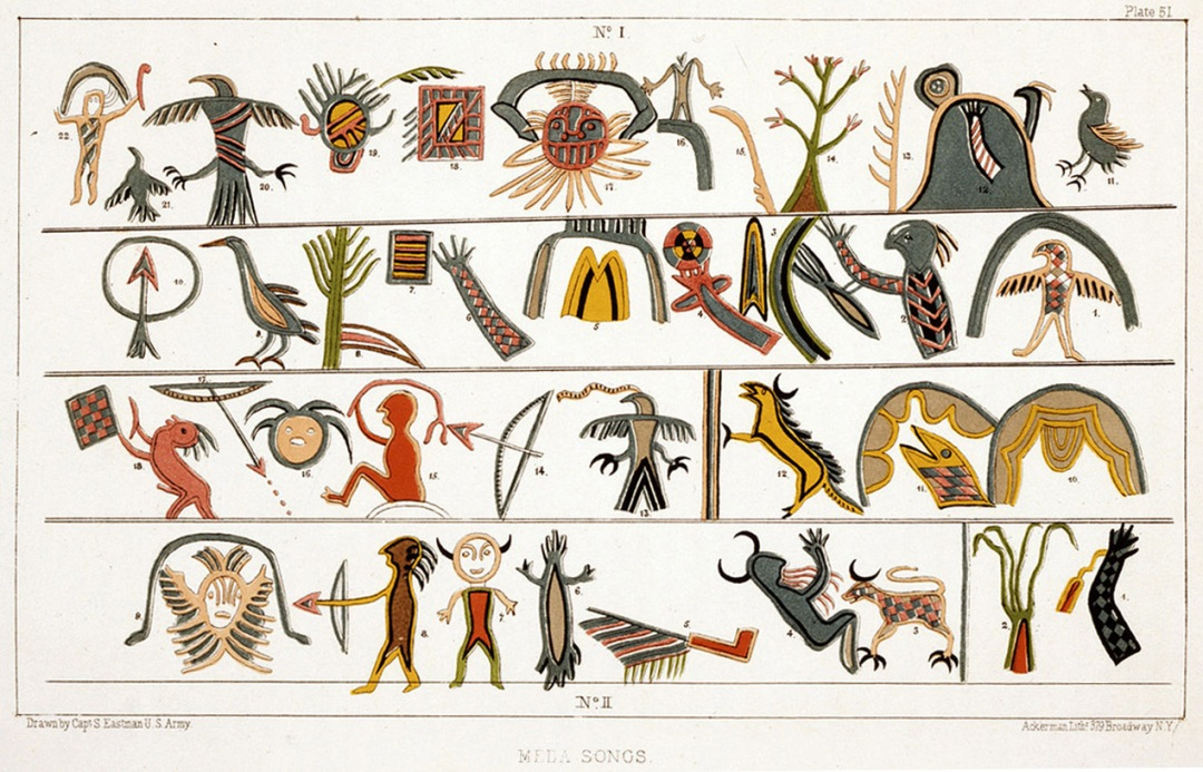 Indian symbols, by by Capt. Seth Eastman, U. S. Army, (1808-1875)