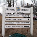 Ipswich MA market square directional sign